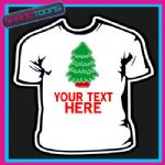 PERSONALISED CHRISTMAS TREE TSHIRT CHILDRENS MENS & LADIES SIZES